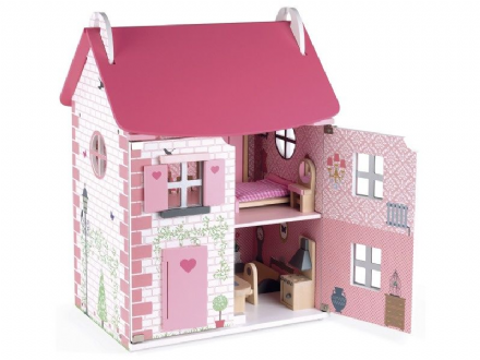Wooden Dolls' House with furniture - Mademoiselle by Janod